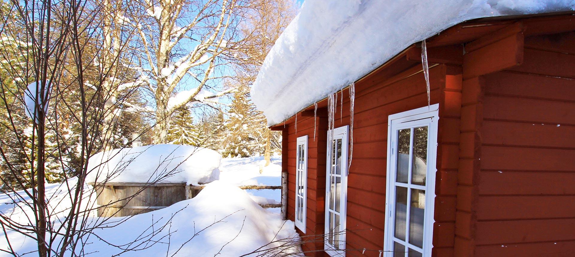 le bain suédois est un des bonheur des vacances en Laponie